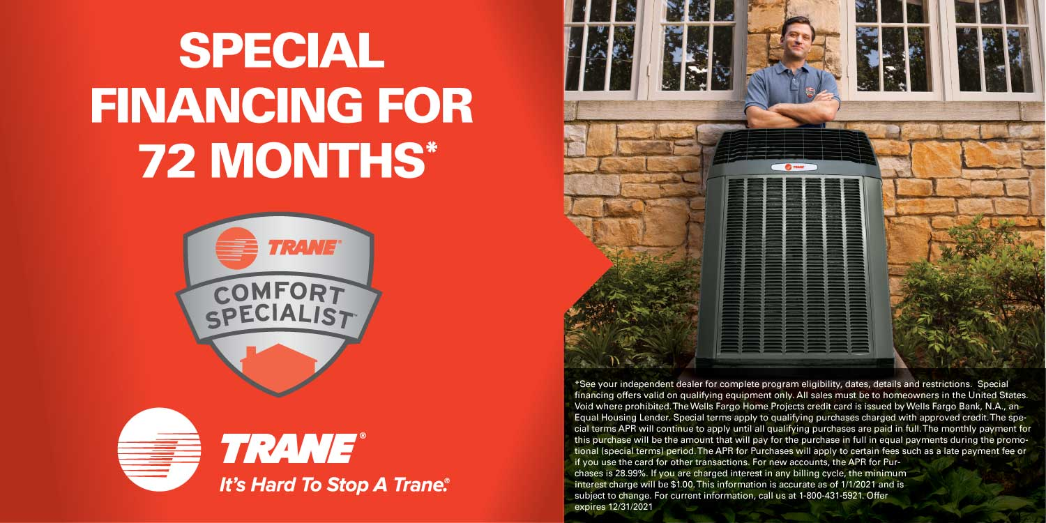 Trane Special Financing for 72 months